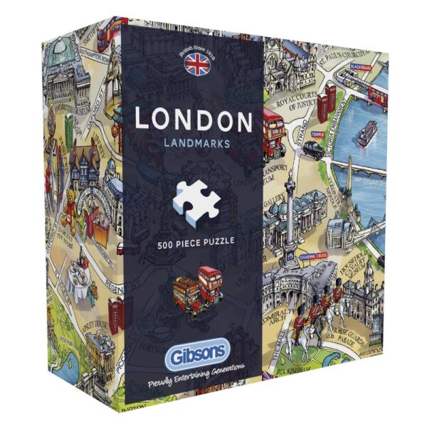 Gibsons London Landmarks G3402 Gift Box Jigsaw Puzzle Box