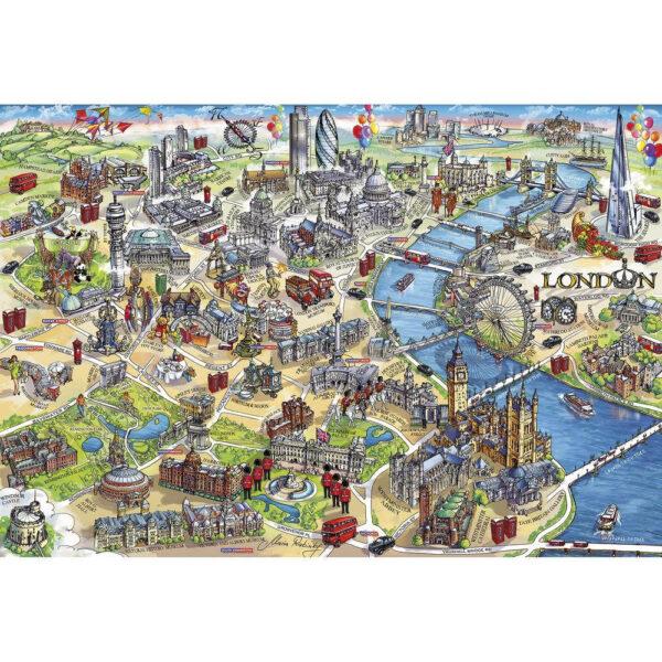 Gibsons London Landmarks Gift Box G3402 Jigsaw Puzzle Image