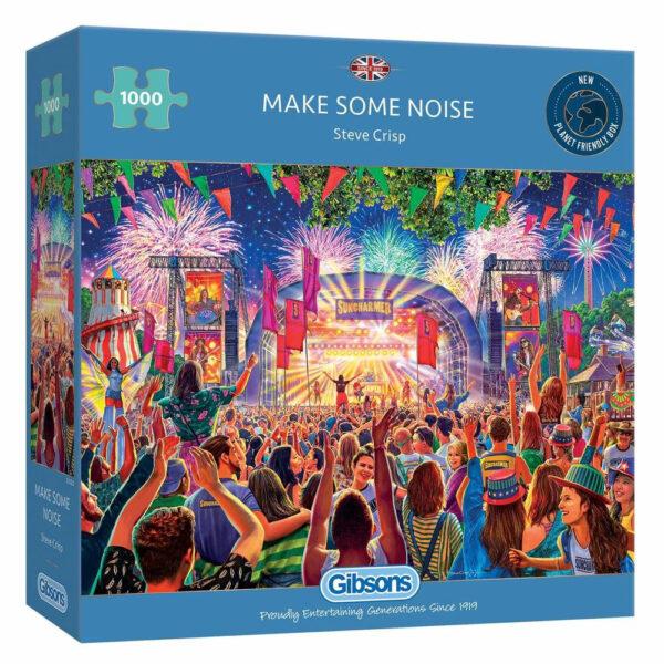 Gibsons Make Some Noise Music Festival Scene by Steve Crisp G6322 1000 pieces jigsaw box