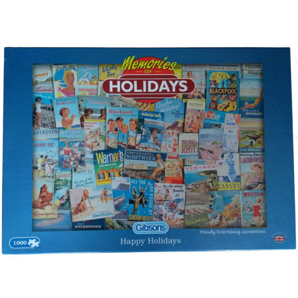 Gibsons Memories of Holidays Happy Holidays G7053 Jigsaw Box Nostalgic Posters