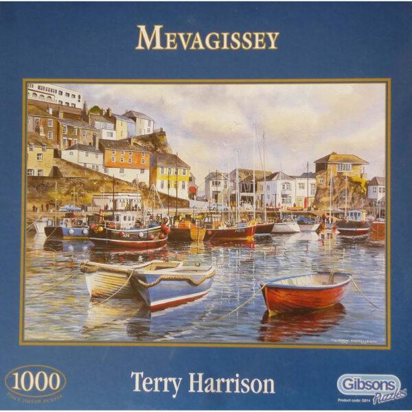 Gibsons Mevagissey G814 Jigsaw Box Harbour Scene Cornwall