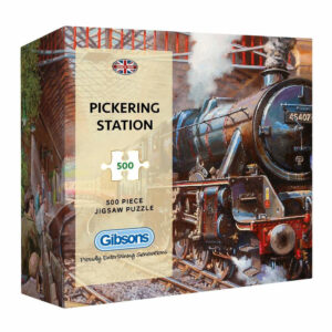 Gibsons Pickering Station Steam Railway Image by David Noble G3437 500 pieces gift jigsaw box