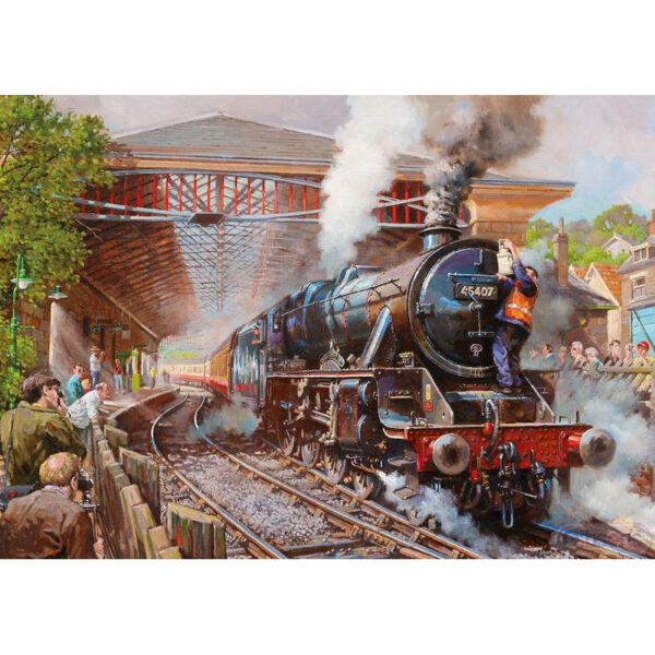 Gibsons Pickering Station Steam Railway Image by David Noble jigsaw image