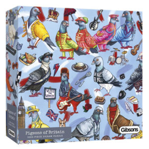 Gibsons Pigeons of Britain G6607 Jigsaw Box Image by Alice Tams