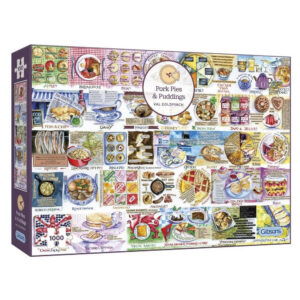 Gibsons Pork Pies and Puddings by Val Goldfinch G7107 1000 pieces jigsaw box