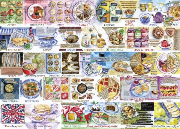 Gibsons Pork Pies and Puddings Val Goldfinch Jigsaw Image