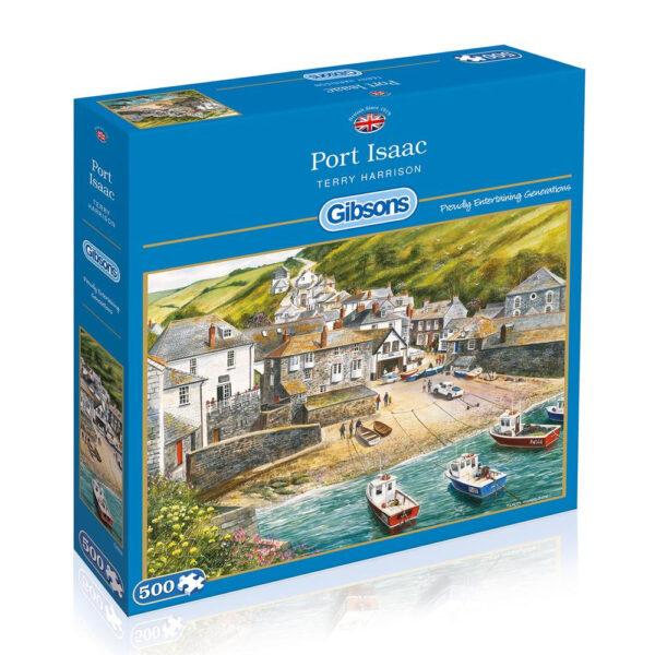 Gibsons Port Isaac G892 Jigsaw Box Cornwall Scene by Terry Harrison