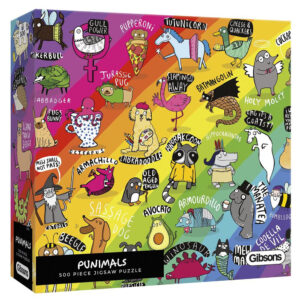 Gibsons Punimals G3602 Jigsaw Box Cartoon Animals Image by Katie Abey