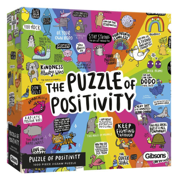 Gibsons Puzzle of Positivity G6608 Jigsaw Box Happiness and Motivation Image by Katie Abey