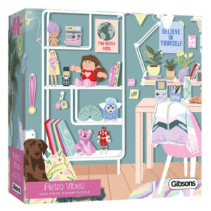 Gibsons Retro Vibes G6609 Jigsaw Box 1990s Girl Power Bedroom by Ana Hard