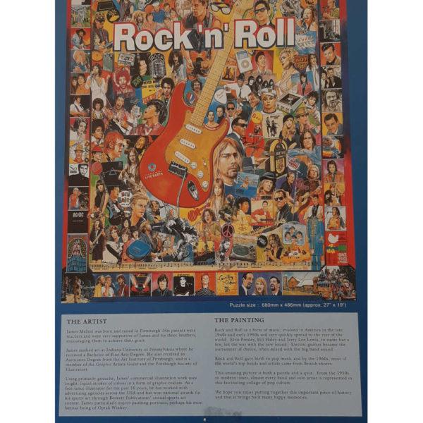 Gibsons Rock N Roll Jigsaw G7006 Box Back
