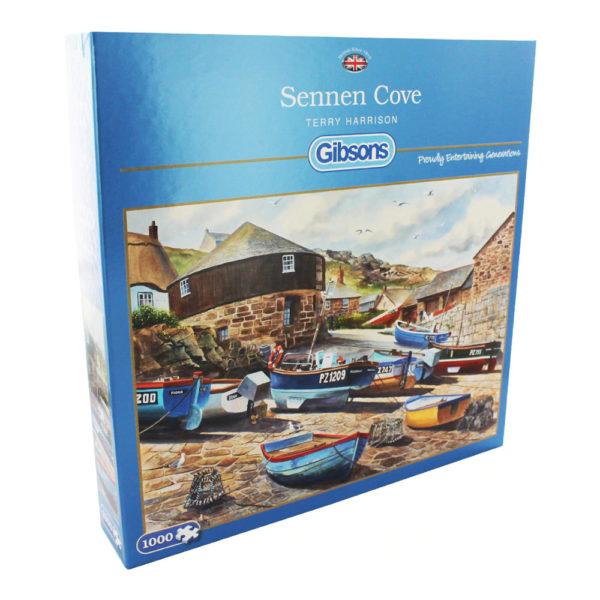 Gibsons Sennen Cove G6165 jigsaw box harbour scene