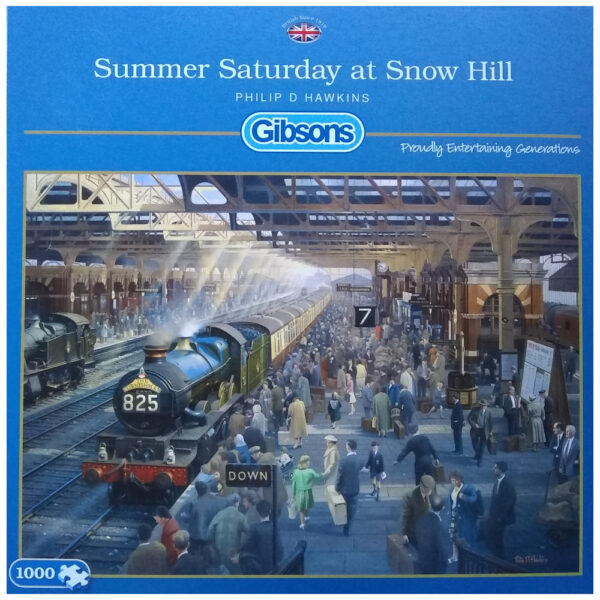 Gibsons Summer Saturday at Snow Hill G6151 Jigsaw Box Railway Station Scene by Philip D Hawkins
