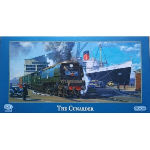 Gibsons The Cunarder G4007 Jigsaw Box 636 pieces Queen Mary Boat Train by Malcolm Root