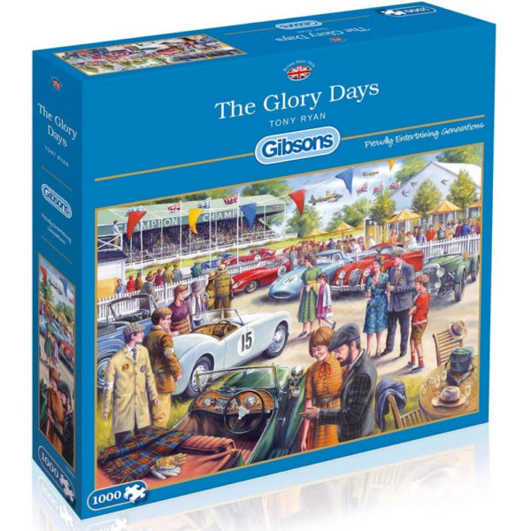 Gibsons The Glory Days G6200 Jigsaw Box Goodwood Revival Motoring Scene
