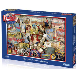 Gibsons The Queens Diamond Jubilee G7031 Royal Souvenirs Montage by Ropert Opie 1000 pieces jigsaw box