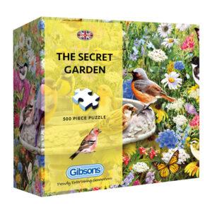 Gibsons The Secret Garden G3406 Jigsaw Gift Box 500 pieces Birds Flowers Butterflies Scene by Greg Giordano