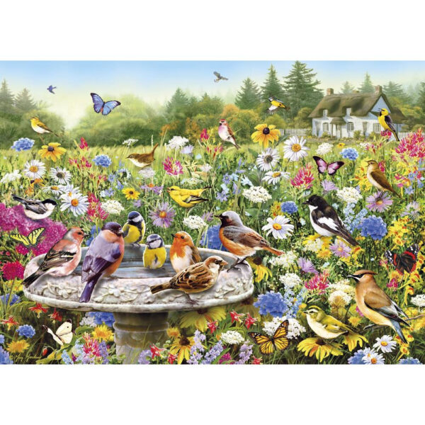 Gibsons The Secret Garden Jigsaw Birds Flowers Butterflies Scene by Greg Giordano