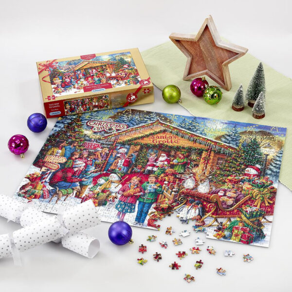 Gibsons This Way to Santa Christmas Limited Edition G2020 Jigsaw Nearly Complete