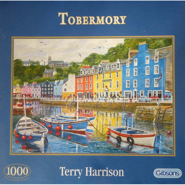 Gibsons Tobermory G6058 Jigsaw Box Harbour Harbour Scene by Terry Harrison