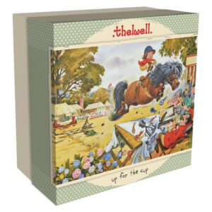 Gibsons Up for the Cup Thelwell G3408 Jigsaw Box Cartoon Pony Scene