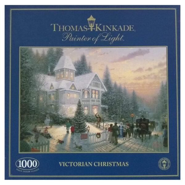 Gibsons Victorian Christmas by Thomas Kinkade G6085 1000 pieces jigsaw box