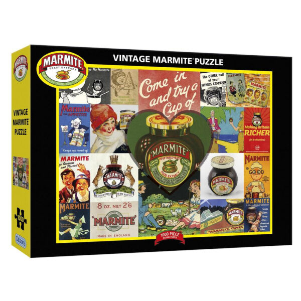 Gibsons Vintage Marmite G7105 Jigsaw Box Montage of Advertising Materials