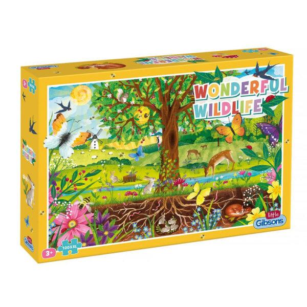 Gibsons Wonderful Wildlife G1045 Little Gibsons Jigsaw Box 100XXL pieces Age 5+
