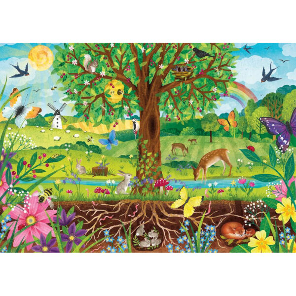 Gibsons Wonderful Wildlife G1045 Little Gibsons Jigsaw Image 100XXL pieces Birds and Animals Scene by Claire McElfatrick