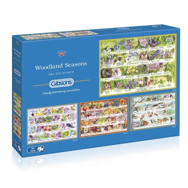Gibsons Woodland Seasons G5048 Jigsaw Box Montage Spring Summer Autumn Winter