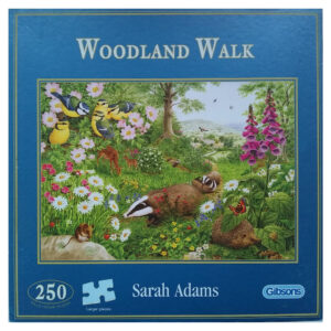 Gibsons Woodland Walk Badgers and Blue Tits by Sarah Adams G2118 250 pieces Jigsaw Box