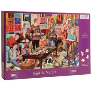 HOP Knit and Natter Dellavaird Collection Jigsaw Box Knitting in the Wool Shop Scene