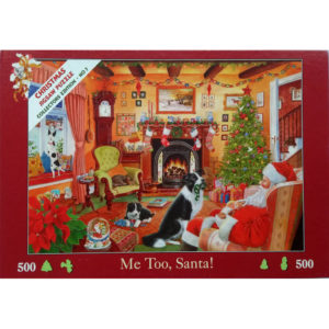 HOP House of Puzzles Me Too Santa Christmas Collectors Edition No 7 jigsaw Father Christmas with dogs by the fire