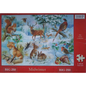 HOP Midwinter Big 250 The Clova Collection Jigsaw Box Animals and Birds in the Winter Snow by Ray Cresswell