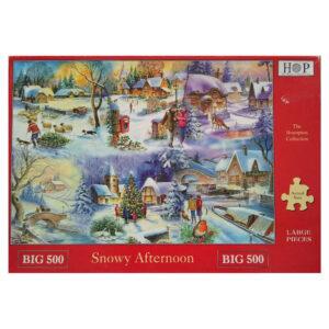 HOP Snowy Afternoon by Ray Cresswell Big 500 jigsaw box