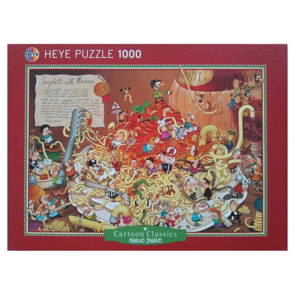 Heye Spaghetti Cartoon Classics 29221 Jigsaw Box Cartoon of Spaghetti della Mamma by Marino Degano