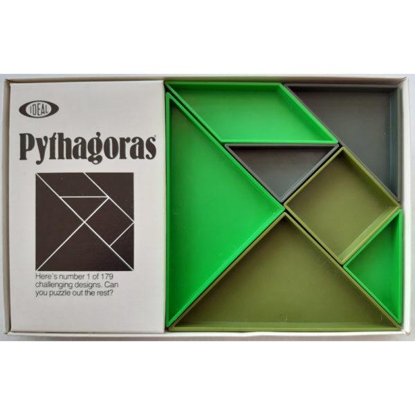 Ideal Hi Q Pythagorus 1975 Vintage Game Contents