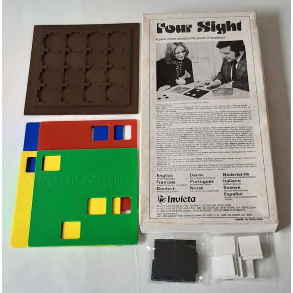 Invicta Four Sight 1975 Vintage Game Contents Instructions