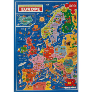 JR Jigsaws Picture Map of Europe Jigsaw Puzzle Box