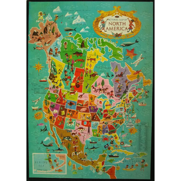 Jaymar North America Pictoral Map Jigsaw Puzzle Complete 3048