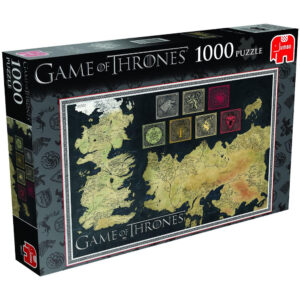 Jumbo Game of Thrones 19317 Jigsaw Box Map Puzzle based on George RR Martin's A Song of Ice and Fire
