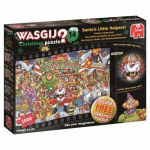 Jumbo Wasgij Christmas 14 Santa's Little Helpers 19162 Jigsaw Box Scene by Neil Easton