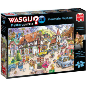 Jumbo Wasgij Mystery Puzzle 20 Mountain Mayhem 25002 Jigsaw Box Cartoon Scene by Paul Gibbs