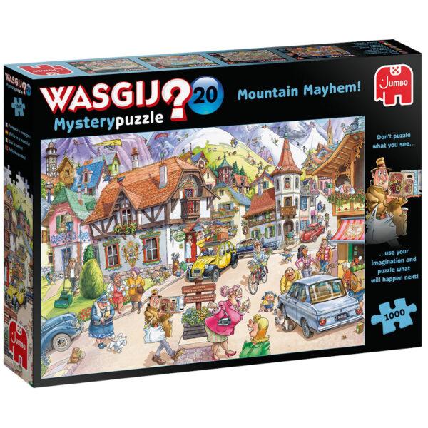 Jumbo Wasgij Mystery Puzzle 20 Mountain Mayhem 25002 Jigsaw Box Cartoon Scene by Paul Gibbs
