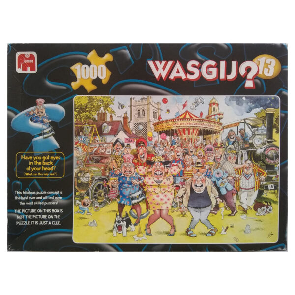 Jumbo Wasgij Original 13 Calendar Gals Village Fete Cartoon Scene by Graham Thompson 10879 1000 pieces Jigsaw Box