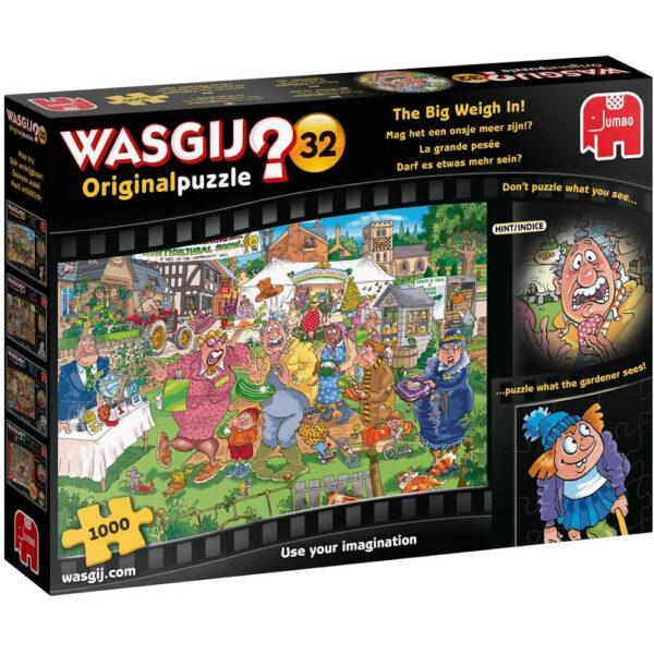 Jumbo Wasgij Original Puzzle 32 The Big Weigh In 19170 Jigsaw Box Cartoon Horticultural Show Scene by James Alexander