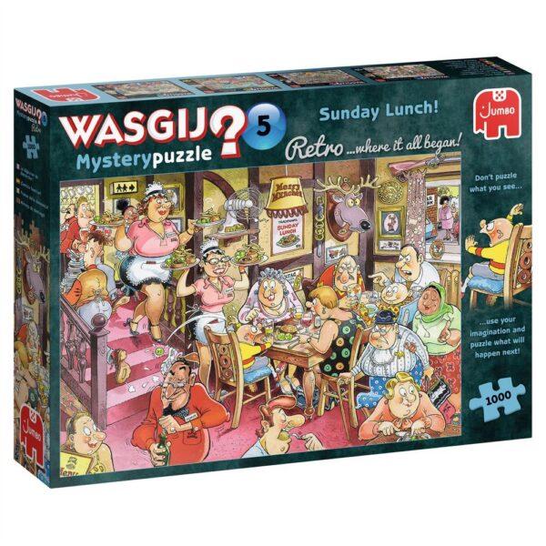 Jumbo Wasgij Retro Mystery 5 Sunday Lunch 25009 Jigsaw Box Cartoon Pub Scene by Graham Thompson