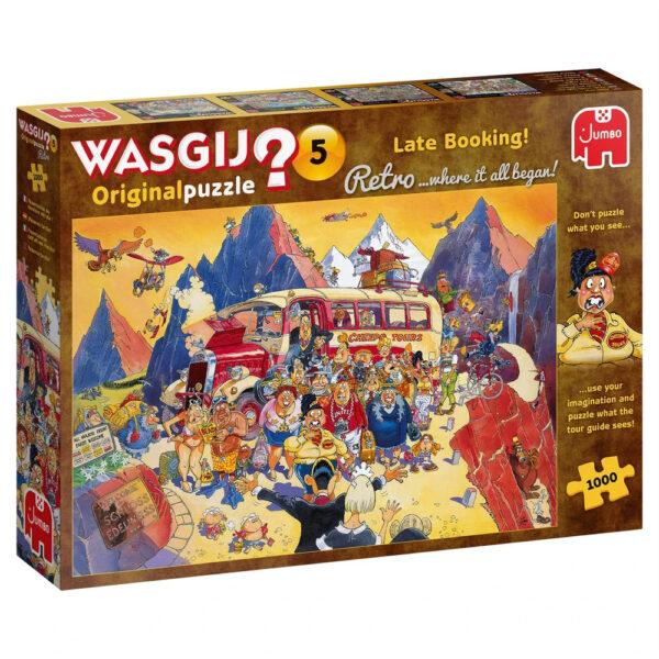 Jumbo Wasgij Retro Original 5 Late Booking 25007 1000 pieces Jigsaw Box Holiday Cartoon Scene by Graham Thompson