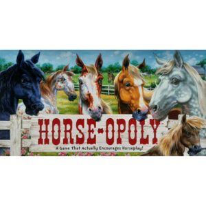 Late for the Sky Horse Opoly Horseopoly Game Box - A Game That Actively Encourages Horseplay
