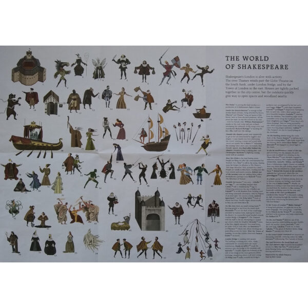 Laurence King The World of Shakespeare Adam Simpson Jigsaw 1000 pieces Leaflet Key to Characters